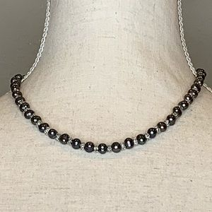 Maui Black Shell Pearl Necklace